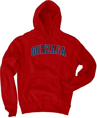 NCAA Gonzaga Bulldogs Men's Sanded Fleece Pullover Hoodie, Vintage/Faded Red, X-Large