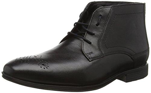 Rockport Styleconnected Chukka, Botines para Hombre Negro - Schwarz (BLACK Lea)