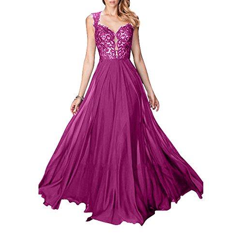 Aermellos Blau Abschlussballkleider Charmant Partykleider Spitze Pink Royal Neu Ballkleider Lang Abendkleider Damen g88rEqxt