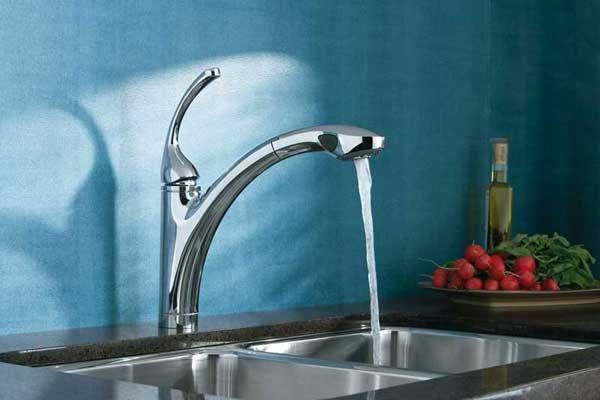 Discount Bathroom Faucets Polished Brass Pull Out Sprary Gold: KOHLER K-10433-CP Forte Single Control Pull-out Kitchen