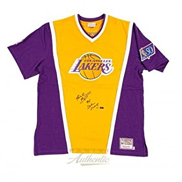reputable site 73f90 a612f KOBE BRYANT Autographed Mitchell & Ness 1996 Shooting Shirt ...