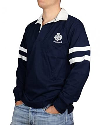 4f658d74a8c Scotland Classic Long Sleeve Rugby Shirt: Amazon.co.uk: Clothing