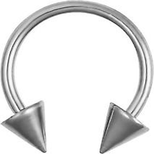 Inspiration Dezigns 1PC 316L Surgical Steel Horseshoe Circular Barbell Ring Spike Body Piercing Lip Tragus Earring Nipple Nose Septum