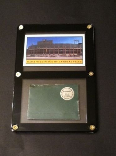 - Authentic Piece of Green Bay Packer Game Used Lambeau Stadium Metal- Best Packer Gift!