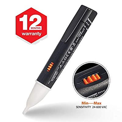 Non-Contact Voltage Tester, Blackview Electrical Voltage Detector Pen,Adjustable Sensitivity,Range 24V-600V,with LED Indicate Light &Alarm Mode Live/Null Wire Judgment