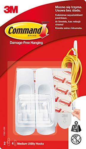 (Command by 3M Multi-Function Hooks, Multi-Surface Hanging Solution, 9 Hooks, 12 Strips)
