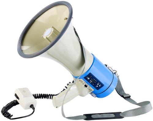 infactory Extra-lautes MP3-Megaphon Premium, 25 Watt, USB, SD, Aux