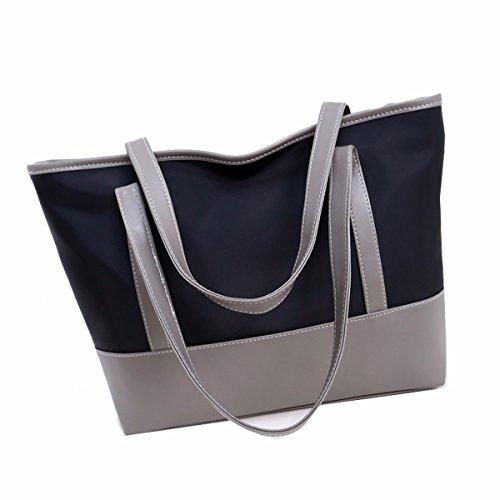 GTVERNH-Women 'S Bag Shoulder Bag Fashion Canvas Bag Waterproof Oxford Bolsa De Tela Casual Bolso De Mano Bolso Grande,D D