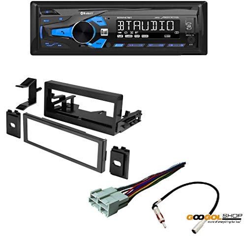 - Dual XRM47BT Single DIN Bluetooth in-Dash AM/FM/Digital Media Car Stereo Receiver GMK345 Single DIN Installation Dash Kit for Select 1995-2005 Chevrolet/GMC/Cadillac Vehicles