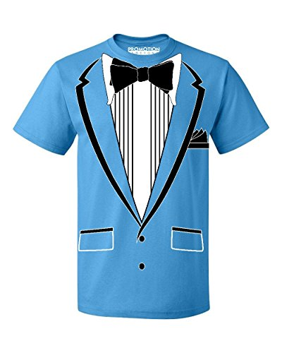 Promotion & Beyond Tuxedo (Black) with Pocket Square Ceremony Men's T-Shirt, M, Pacific Blue