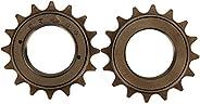 2 Pcs Bike Freewheel Steel 16 Teeth Freewheel Inner Diameter 3.4cm/1.3in Single S-Peed Freewheel Bicycle for B