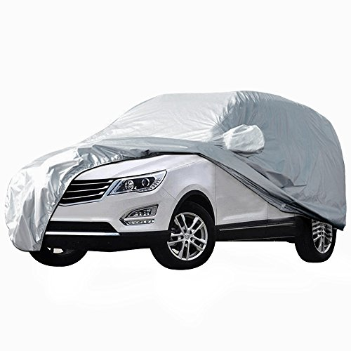 AUDEW Car Cover Waterproof /Windproof/Dustproof/Scratch Resistant Car Cover Sun Outdoor UV Protection Full Car Covers For SUV Car 204''