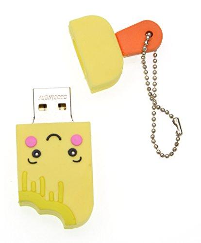 FEBNISCTE Cute Yellow Smile Ice Cream 16GB USB 2.0 Memory Stick