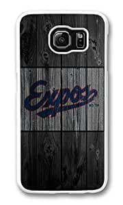 Samsung Galaxy S6 Case, Galaxy S6 Cover - Rugged Plastic Wood Expos Logo White Hard Shell Snap on Bumper Case Cover for Samsung Galaxy S6