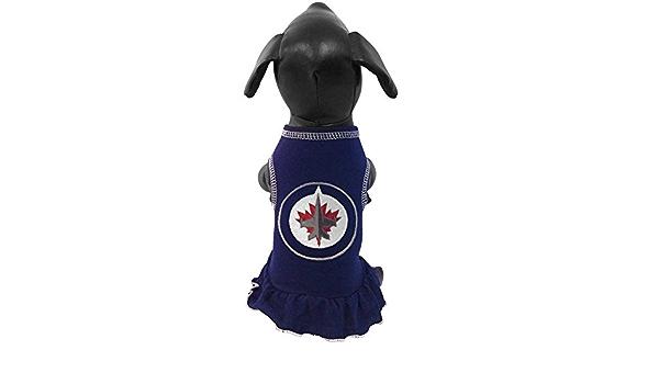 Navy Medium All Star Dogs NHL Winnipeg Jets Dog Cheerleader Dress