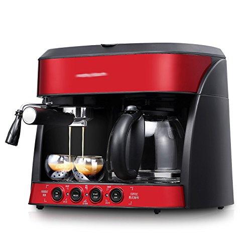 GCCI Máquina de Café Casa de Negocios Automático Máquina de Café Americano,rojo: Amazon.es: Hogar