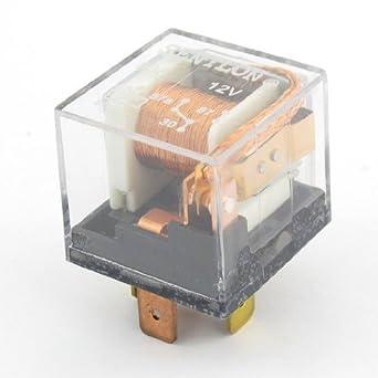 Auto Vehículo Auto Relay 5 Pin terminales 10 mm Rail conector SPDT 12 VDC 80 A: Amazon.es: Industria, empresas y ciencia