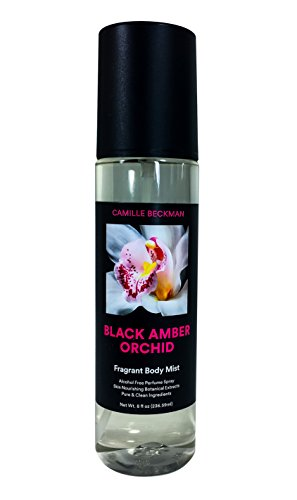 - Camille Beckman Fragrant Body Mist, Alcohol Free, Black Amber Orchid, 8 Ounce