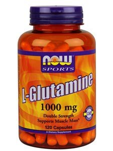 Now Foods L-Glutamine, Double Strength, 1000 mg, 120 Capsules, 2 Pack by NOW Foods