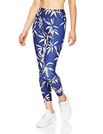 Dharma Bums Women's Bamboo High Waist Printed Legging - 7/8, Multicoloured, Extra Small