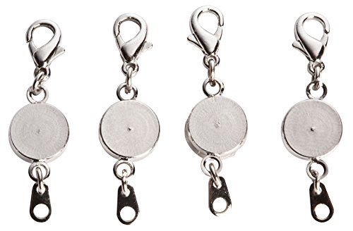 Magnetic Necklace Jewelry (Miles Kimball Locking Magnetic Jewelry Clasps - Set Of)