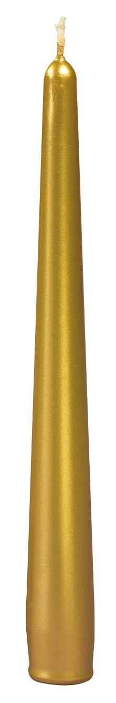 Cereria di Giorgio Risthò Candele Coniche Laccate, Cera, Oro, 2.2x2.2x21 cm, 3 unità CESZW 6040_22