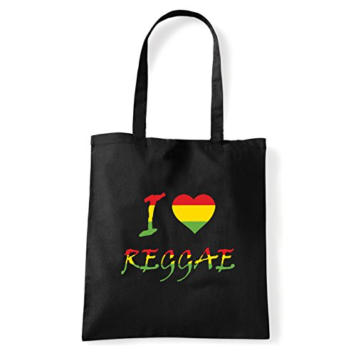 Art Mujer Al reggae I Negro love Bolso shirt T Hombro De Algodón bag Para q0I7rwqFx