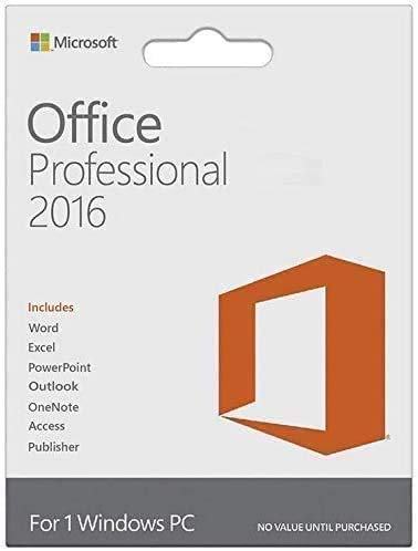 Office Professional 2016 1 PC (Lifetime, Download)