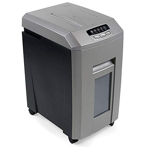 Aurora 15-Sheet Professional Grade High Security Micro-Cut Paper/CD and Credit Card Shredder, Heavy Duty 60 Minutes Continuous Running Time, Large Size 8.5-Gallon pullout Basket, Easy Mobility