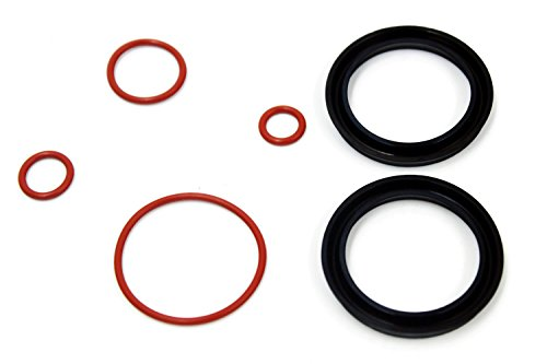 (iFJF Fuel Filter Primer Seal Rebuild Kit for 2001-2013 GM Duramax Fuel Filter Housing with 4 Viton O-Rings and 2 Buna Nitrile Plunger)