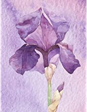 Purple Iris Notebook / Journal ~ College Ruled ~ 110 Pages (55 sheets) ~ 8.5 x 11