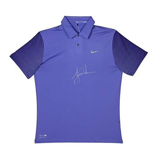 Tiger Woods Signed Autographed Nike Purple Haze Polo Shirt Upper Deck #/25 UDA (Deck Haze)