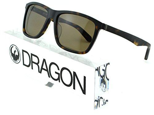 Dragon Alliance DR518S DAN Unisex Rectangular Sunglasses (Matte Dark Tortoise Frame, Drak Grey Lens - Dragon Sale Sunglasses