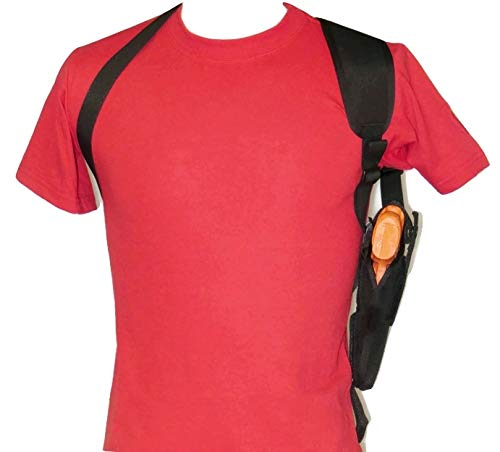 Shoulder Holster for Ruger LC9, LC9/S & EC9/s with Underbarrel Laser Mounted on Gun - Vertical Carry (Right)