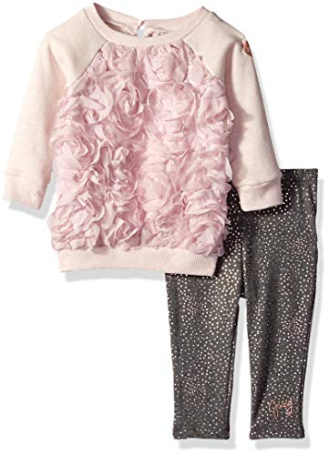 Juicy Couture Baby Girls 2 Pieces Pant Set, Pink/Gray Print, 3-6 Months from Juicy Couture