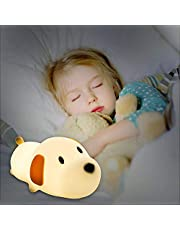 Baby Night Light, Wisdom1674 Dog Night Light for Baby Kids, Bedside Lamp Safe Soft Silicone Dog Light Bulb with Multicolor Lamp, Cute Doggy Night Lamp, Great for Baby Nursery & Sleeping Bedroom and Desk