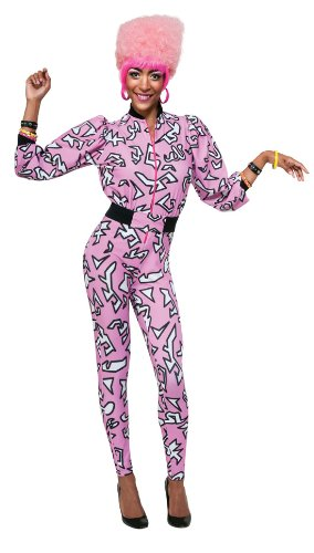 Nicki Minaj Halloween (Secret Wishes  Costume Nicki Minaj Collection Pink Jumpsuit and Belt, Pink/Black, X-Small)
