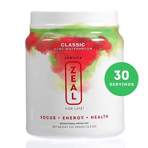 Zurvita- Zeal for Life- 30-Day Wellness Canister- Kiwi Watermelon- 420 grams
