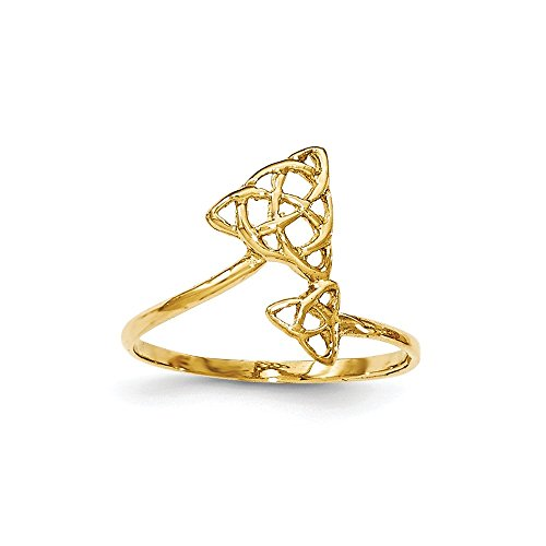 14K Yellow Gold Polished Celtic Knot (Yellow Gold Celtic Claddagh Bracelet)
