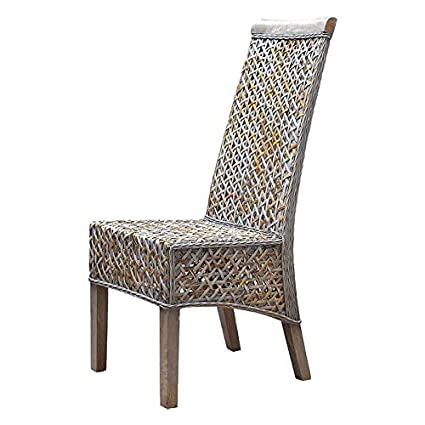 Amazon.com - Mohr and McPherson Angela Woven Rattan High ...