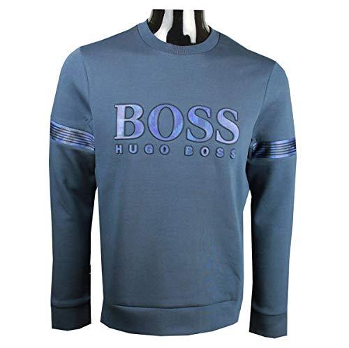 Hugo Boss Men's Blue Salbonic Sweatshirt (3XL)