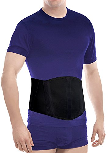 Original Ergonomic Umbilical Navel Hernia Belt (New Model) / Abdominal Support Brace Medium Black
