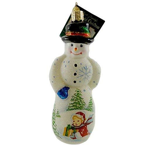 Old World Christmas Glistening Gentleman Snowman Ornament ()