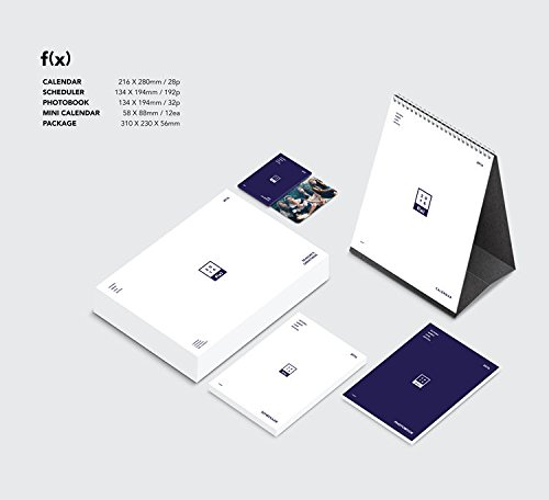 Download f(x) 2016 SEASON'S GREETINGS [28p Calendar + 192p Scheduler + 32p Photobook + Mini Calendar 12ea + Folded Poster] pdf