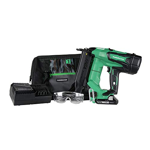 Metabo HPT NT1850DE 18V Cordless Brad Nailer Kit, Brushless Motor, 18 Gauge, 5/8″Up To 2″ Brad Nails, Compact 3.0 Ah Lithium Ion Battery, Lifetime Tool Warranty