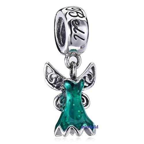 Tinkerbell Dangle - FidgetFidget 925 Sterling Silver New Pricess Dress fit European Charm Bead Bracelets Tinker Bell's Dress Dangle Bead mayfeil4pandora925