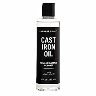 Caron & Doucet - Cast Iron Seasoning & Cleaning Oil | 100% Plant-Based & Food Grade! | Best for Seasoning, Restoring, Curing and Care (8oz)