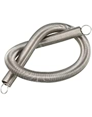 """uxcell® Extended Compressed Spring Wire Diameter 0.031"""", OD 0.39"""", Free Length 11.81"""" Stainless Steel Small Dual Hook Tension Spring"""