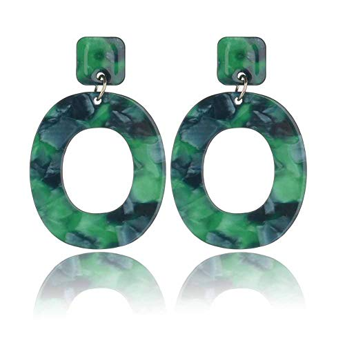 (Acrylic Earrings for Women Statement Earrings Fashion Hypoallergenic Dangle)