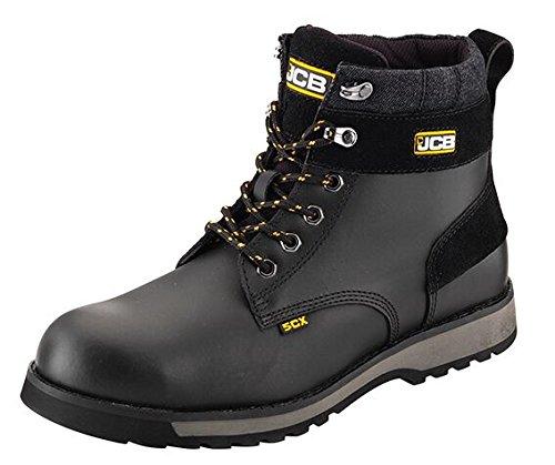 JCB Black Work Boots 5CX Steel Toe Cap UK SIze 612 Safety UK